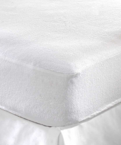 DOUBLE SIZE WATERPROOF TERRY TOWEL FITTED MATTRESS PROTECTOR